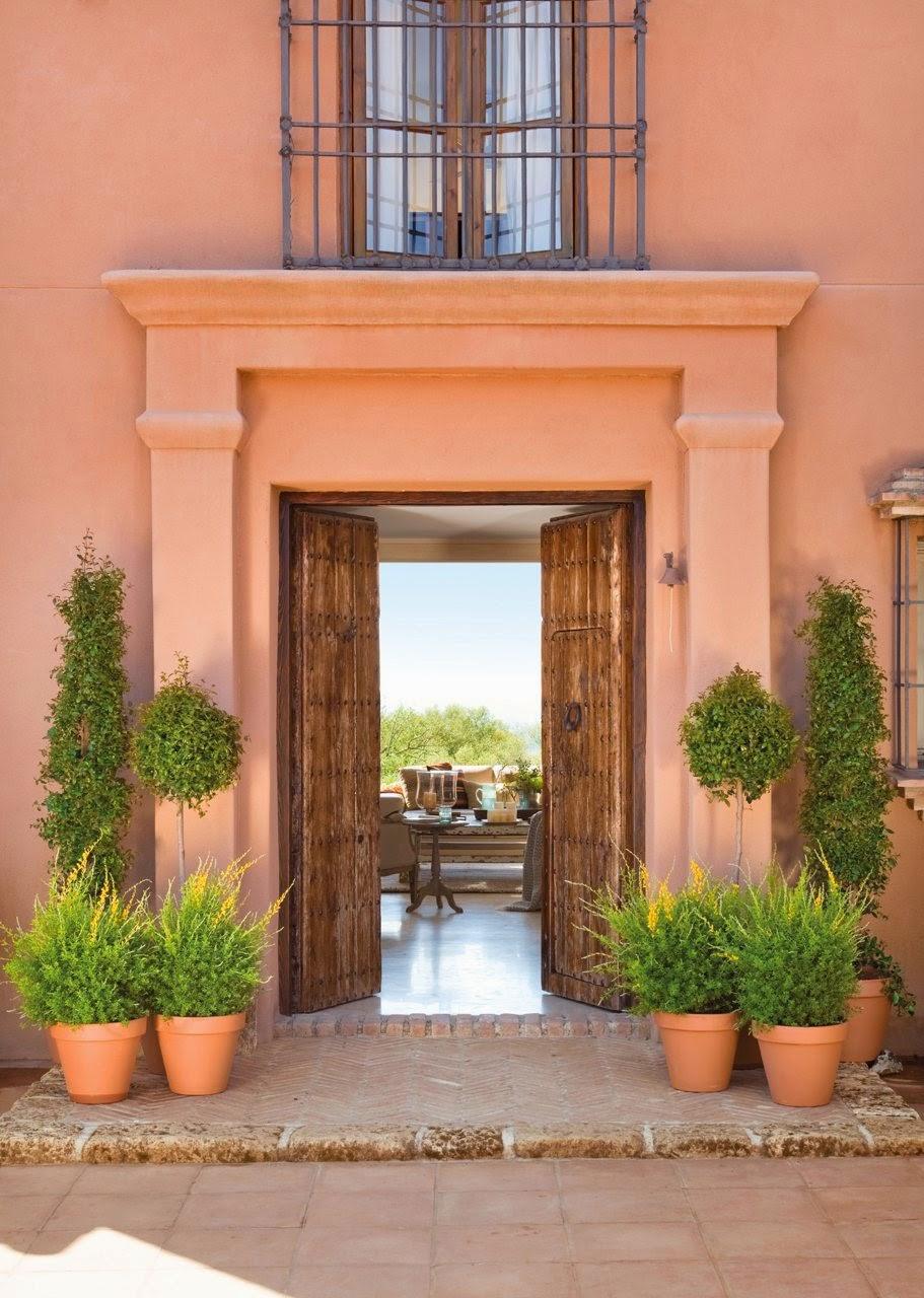 Uma casa de campo para reunir a fam lia jeito de casa for Colores para puertas exteriores