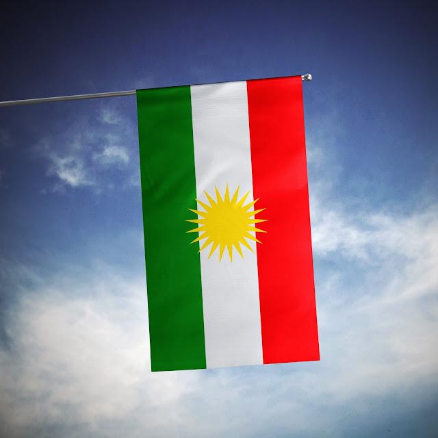 House flag of Kurdistan