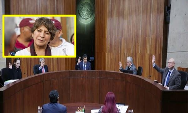 DELFINA: NO cantes victoria Del mazo, Con 45 juicios de revisión, Morena impugna ante el TEPJF la elección del Edomex