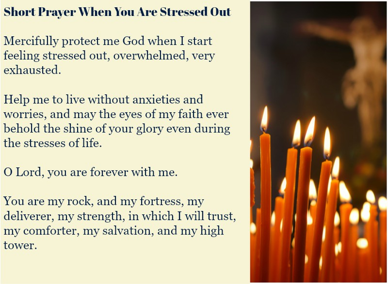 Short Prayer When You Are Stressed Out