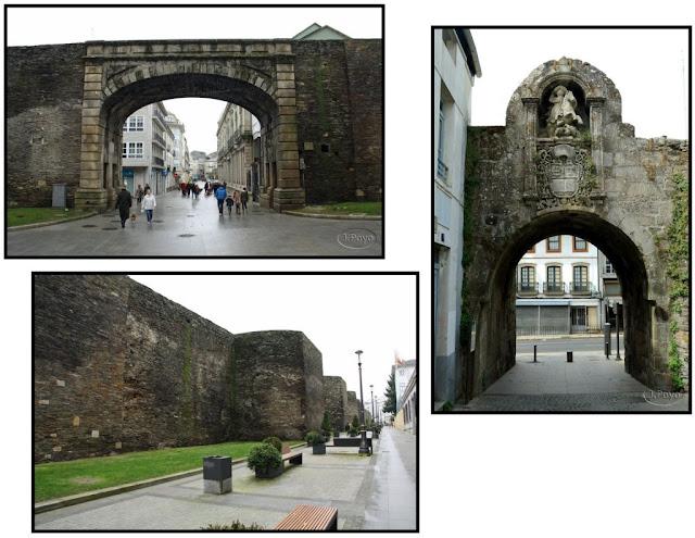 Muralla, Puerta Obispo Aguirre y Puerta de Santiago de Lugo
