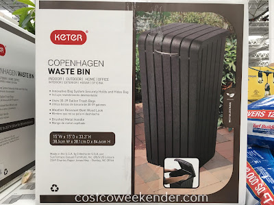 Costco 1080777 - Keter Copenhagen Waste Bin: great for the patio or backyard