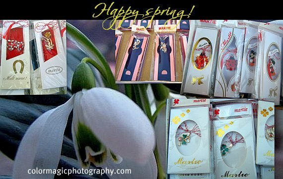 Spring greeting card with Martisor