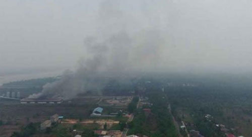 Almost all areas in West Kalimantan covered by somke haze since a few weeks ago. Photo courtesy Pontianak Post