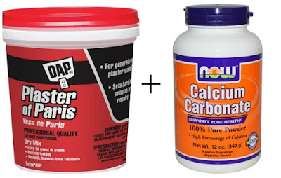 Plaster of Paris and Calcium Carbonate