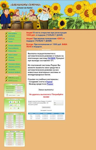 Скрин страницы выплаты