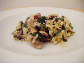 Mushroom, Leek and Spinach Risotto