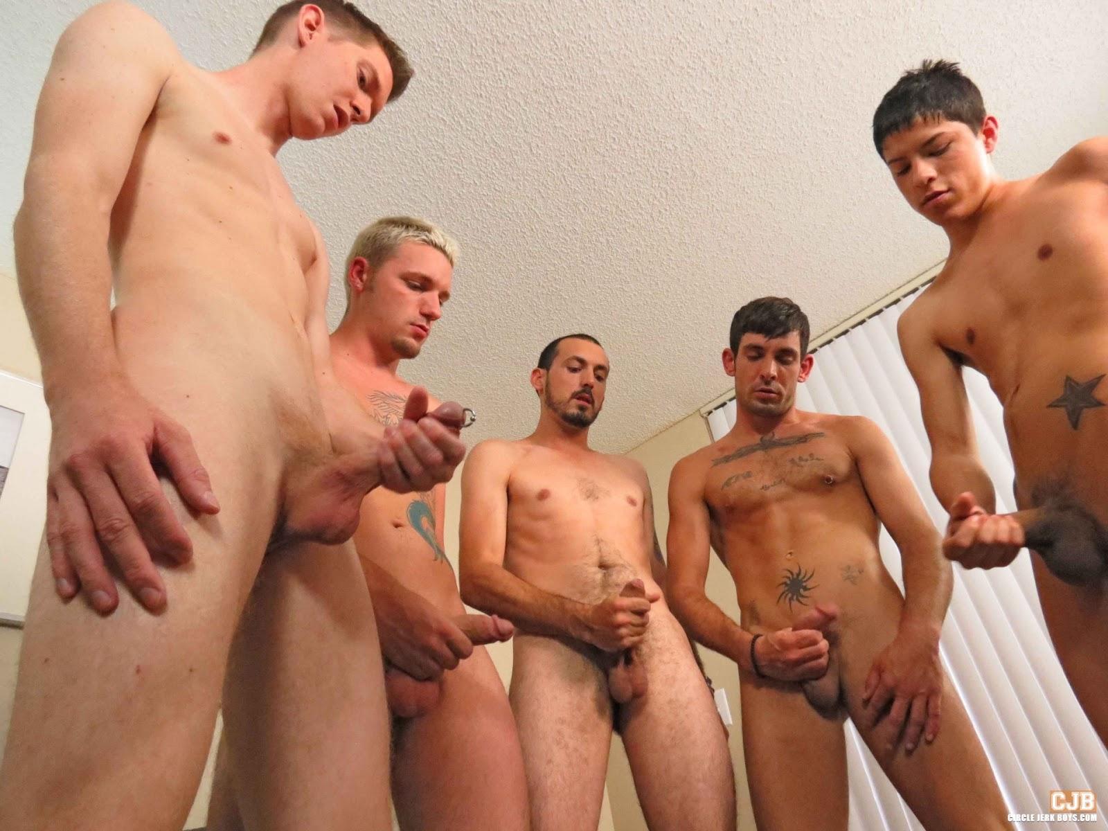 boys circle jerk cum