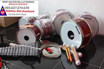 alat drumband lengkap alat musik drumband drum pemukul drum dari rakhma konveksi