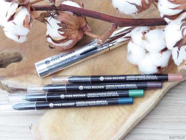 yves rocher avis mascara longueur 360 crayon couleur vegetale