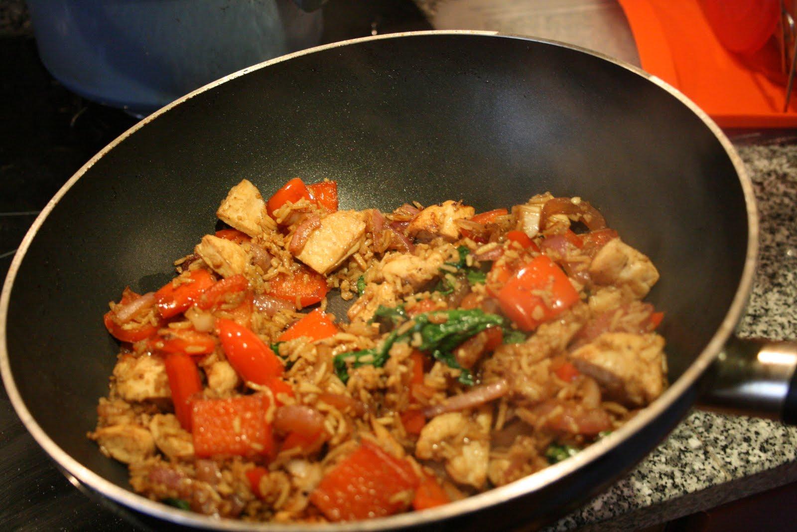 Pollo con arroz al wok receta para wok recetas de cocina for Cocinar wok