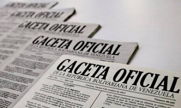 Descargue en PDF Decretos Constituyentes que trae la Gaceta oficial Nº 41265