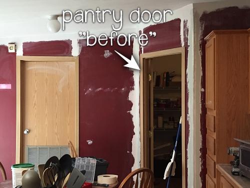 """kitchen doors """"before"""" makeover"""