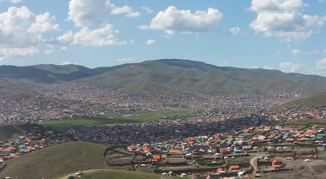 The view from Dari Ekh, Ulaanbaatar