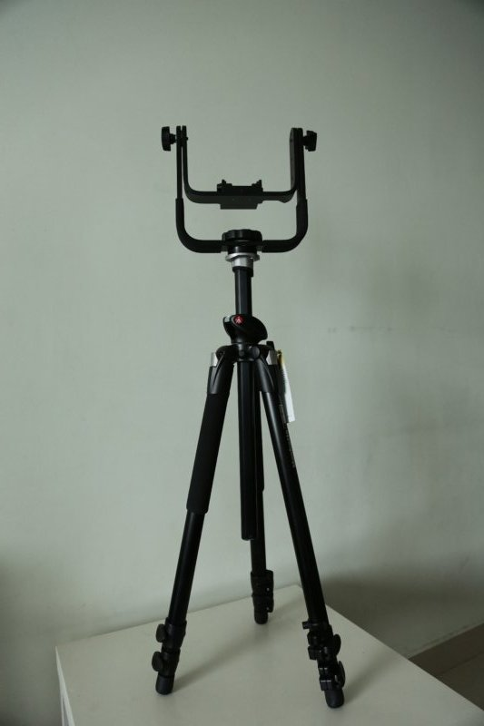 Manfrotto 393 Gimbal Head On Manfrotto 055x Prob Pro Tripod