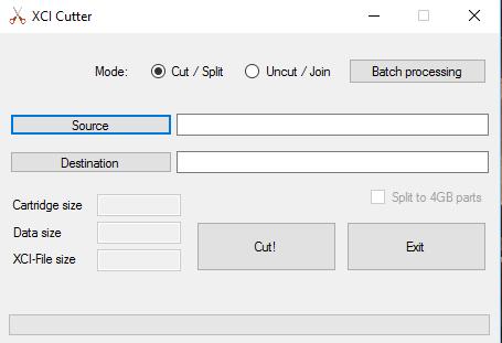 SWITCH PC SOFTWARE] XCI-Cutter v2 2 - Reduza o Tamanho das