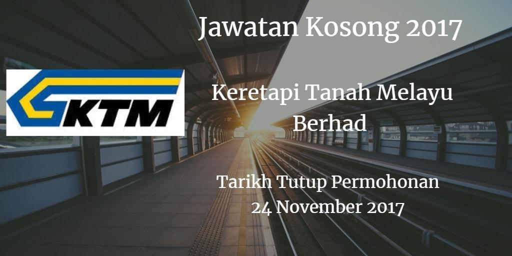 Jawatan Kosong KTMB 24 November 2017