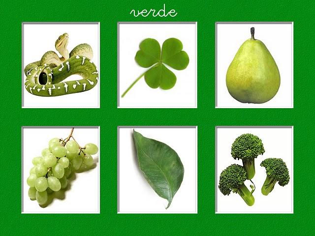 Dibujos Animados De Color Verde: Colores En Imagenes Para Imprimir