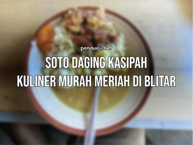 Soto daging kasipah