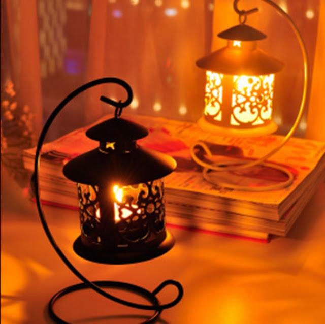 старинная лампа со свечами