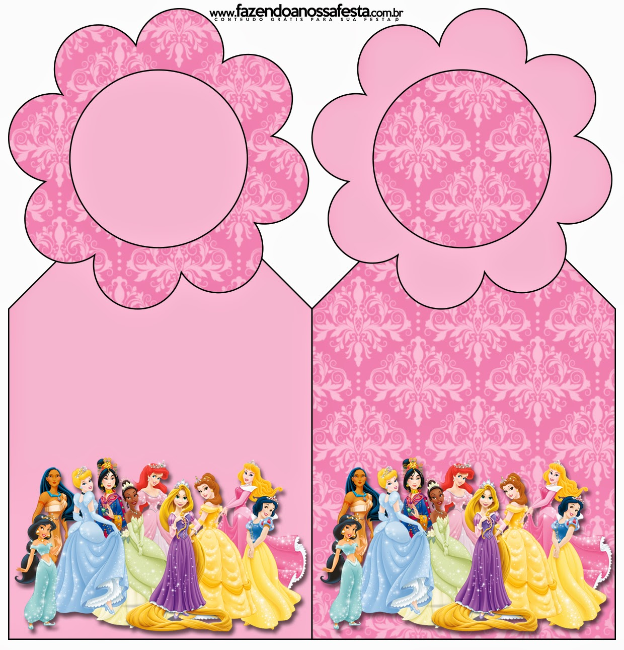 Sassy image with princess party printable