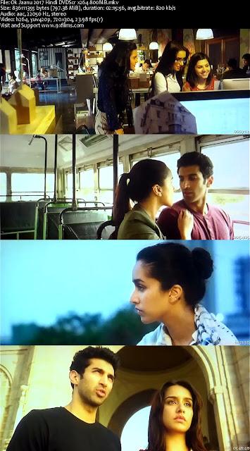 Ok Jaanu 2017 Hindi DVDScr x264 800MB