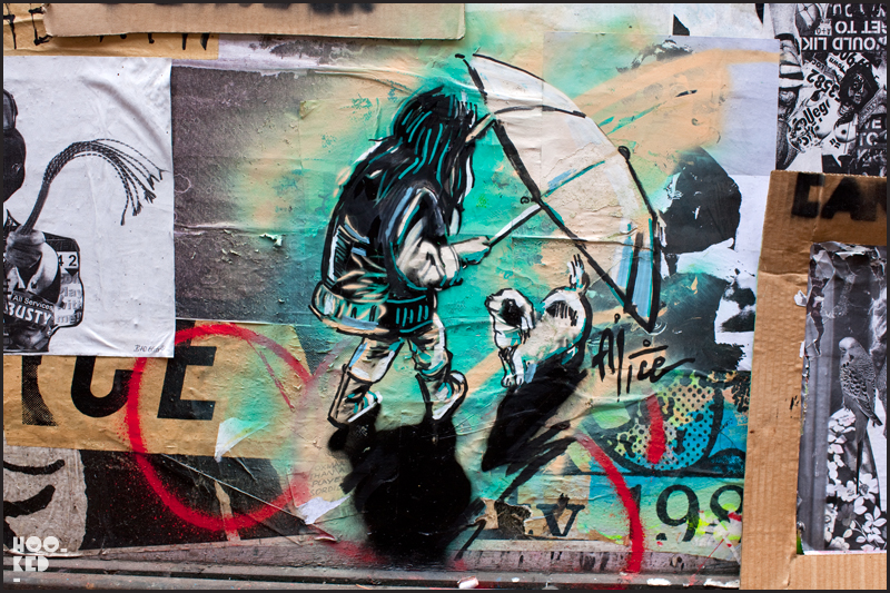 Alice Pasquini - Shoreditch Street Art on Blackall Street, London