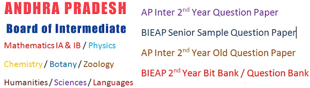 AP (BIEAP)  2nd Year Model Question Papers 2017 Bit Bank, Question Bank, Blueprint Download at bieap.gov.in