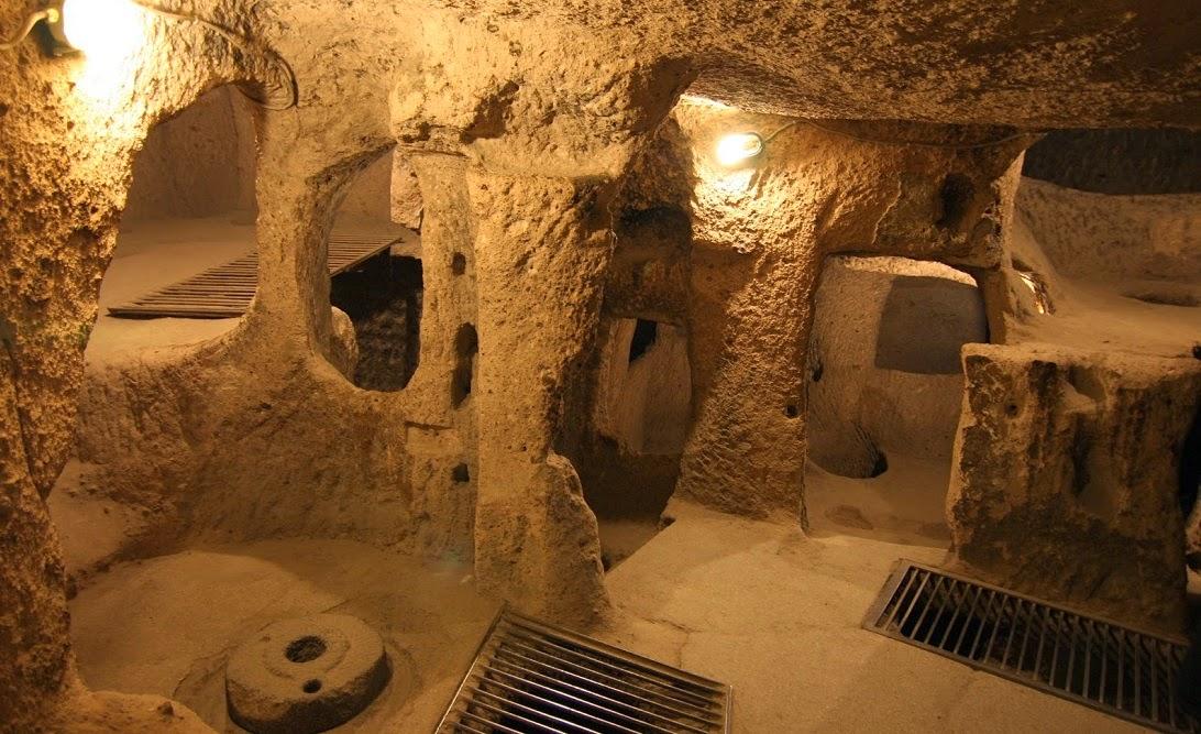 Cidade subterrânea de Kaymakli na Capadócia