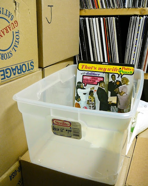 plastic tub for records