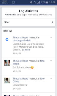 Log aktifitas autolike facebook