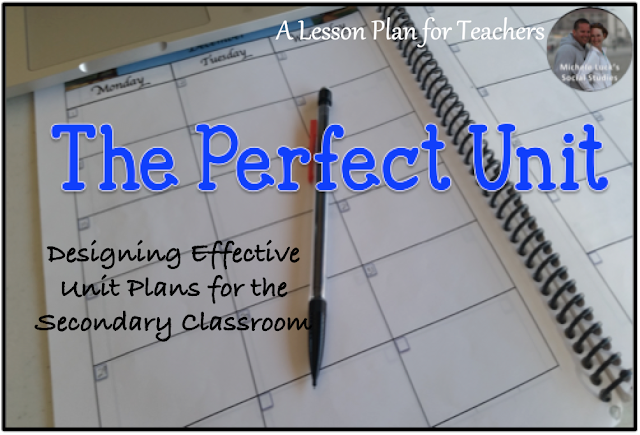 How to design effective unit plans in the secondary classroom.