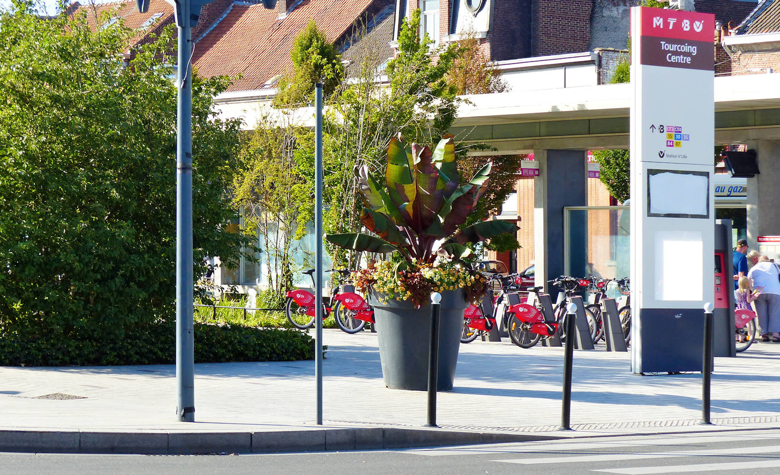 """Station Vélos V'Lille Tourcoing """"Place Roussel"""""""