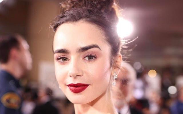 Saiba tudo sobre a maquiagem de Lily Collins no Golden Globe Awards 2017