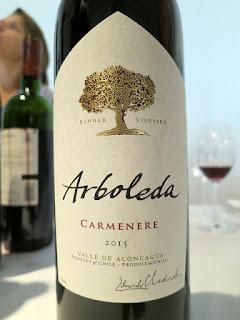 Arboleda Carmenère 2015 (88 pts)