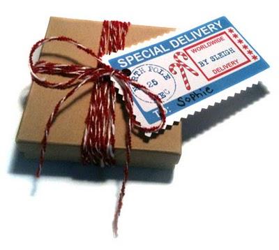Christmas Santa personal gift tags