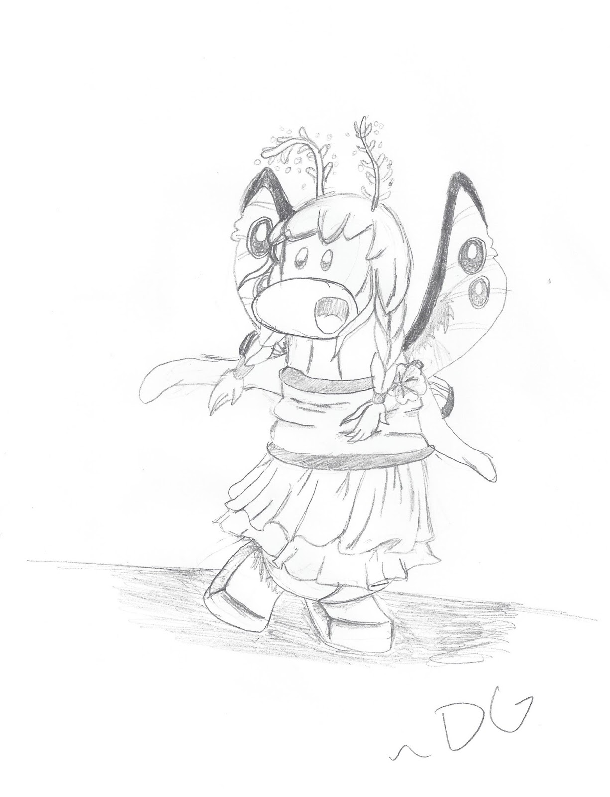 Meh Doodles and Such : Cp Moth/Butterfly Sketch