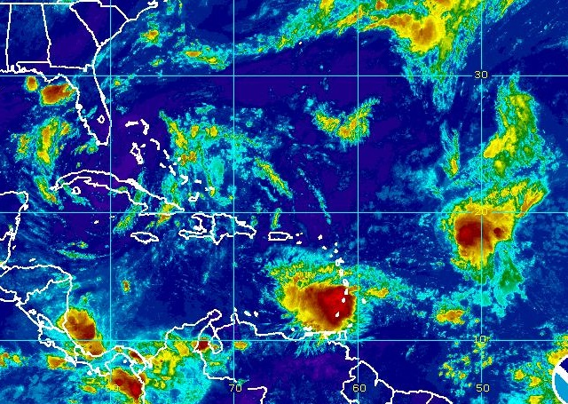 NOAA GOES Satellite Image  Of 2017 Invest 92L, Tropical Storm Harvey
