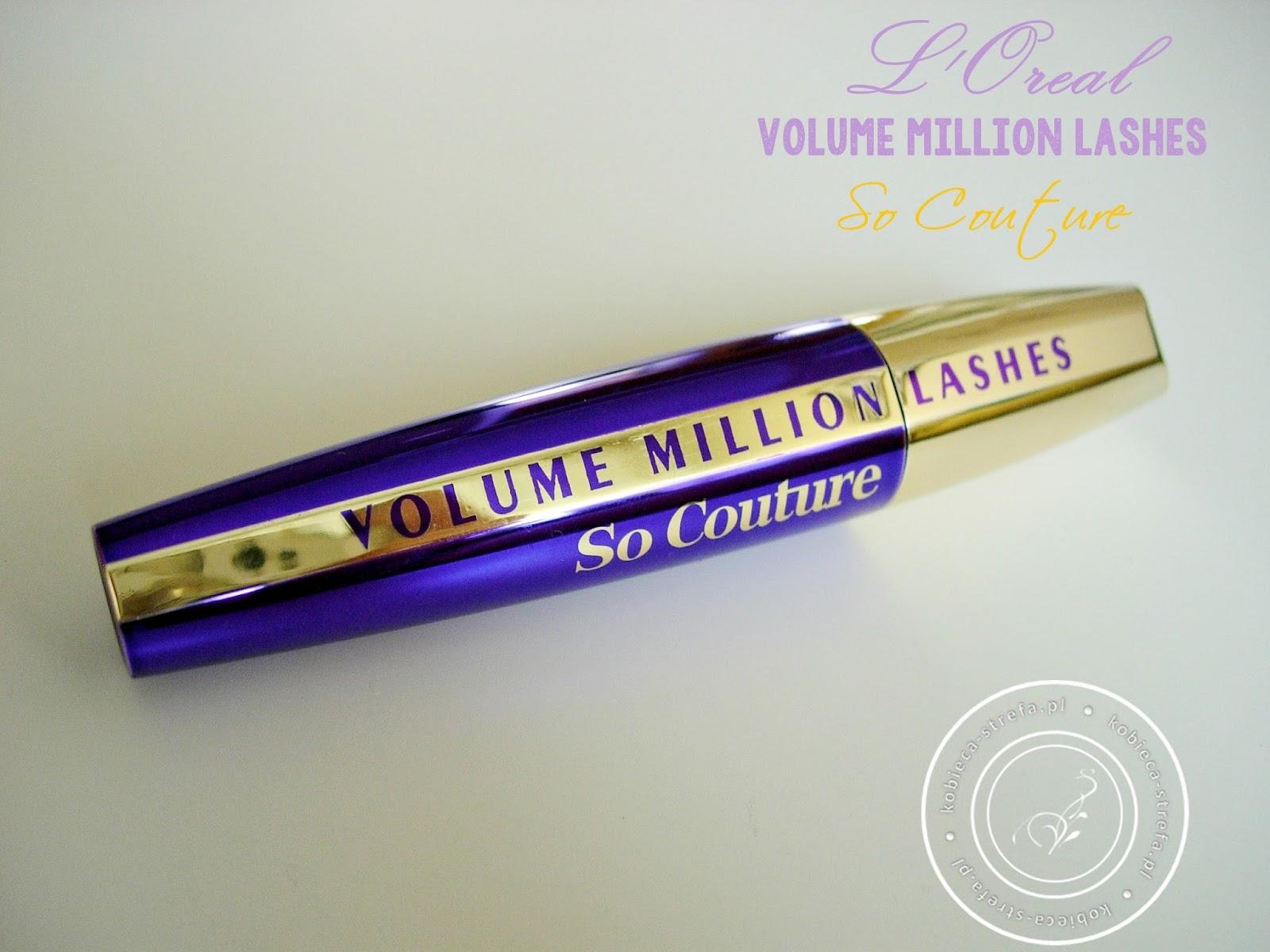 Twoje oczy zyskają elegancką oprawę i szykowny rys w najdrobniejszym szczególe dzięki innowacyjnej formule Volume Million Lashes So Couture - L'Oreal Paris