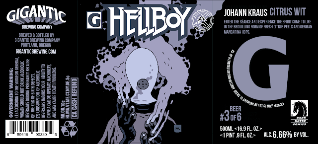 666 Cases of Hellboy Beer On Tap from Gigantic Brewing & Dark Horse Comics