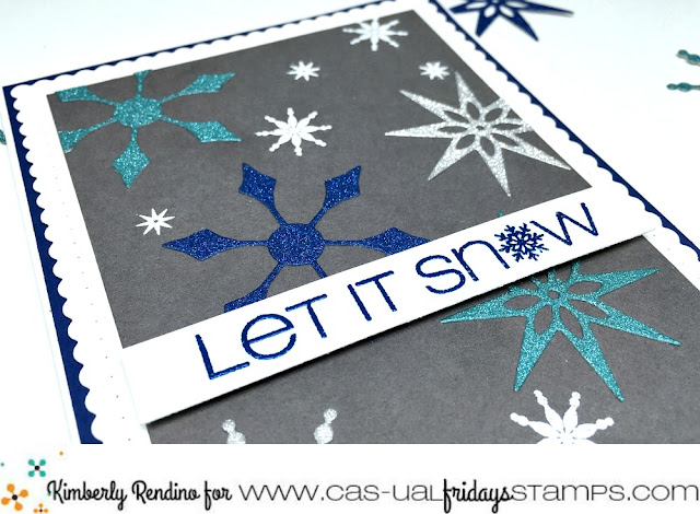 holiday card | handmade card | christmas | winter | snow | snowflakes | papercraft | embossing | die cutting | kimpletekreativity.blogspot.com | CAS-ual Fridays Stamps | Winnie & Walter