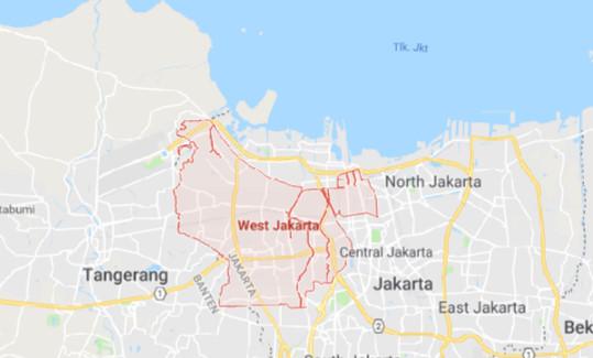 Peta Jakarta BARAT Lengkap (Google Map)