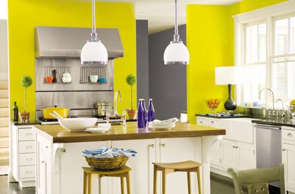 rumahku-syurgaku: dekorasi ruang tamu berwarna kuning