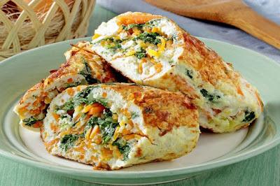Cara Membuat Omelet Telur Gulung Isi Sayur Sederhana Dan Enak