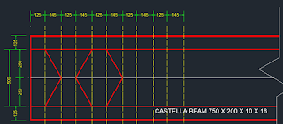 cara membuat Castella Beam Tekla,tutorial Honeycomb Beam Tekla