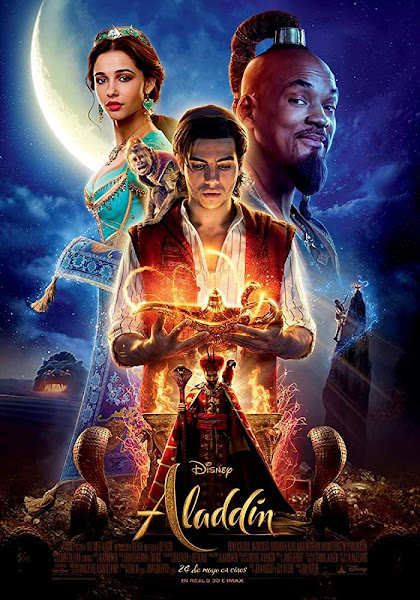 Poster of Aladdin (2019) Dual Audio [Hindi-Cleaned] 720p BluRay ESubs Download