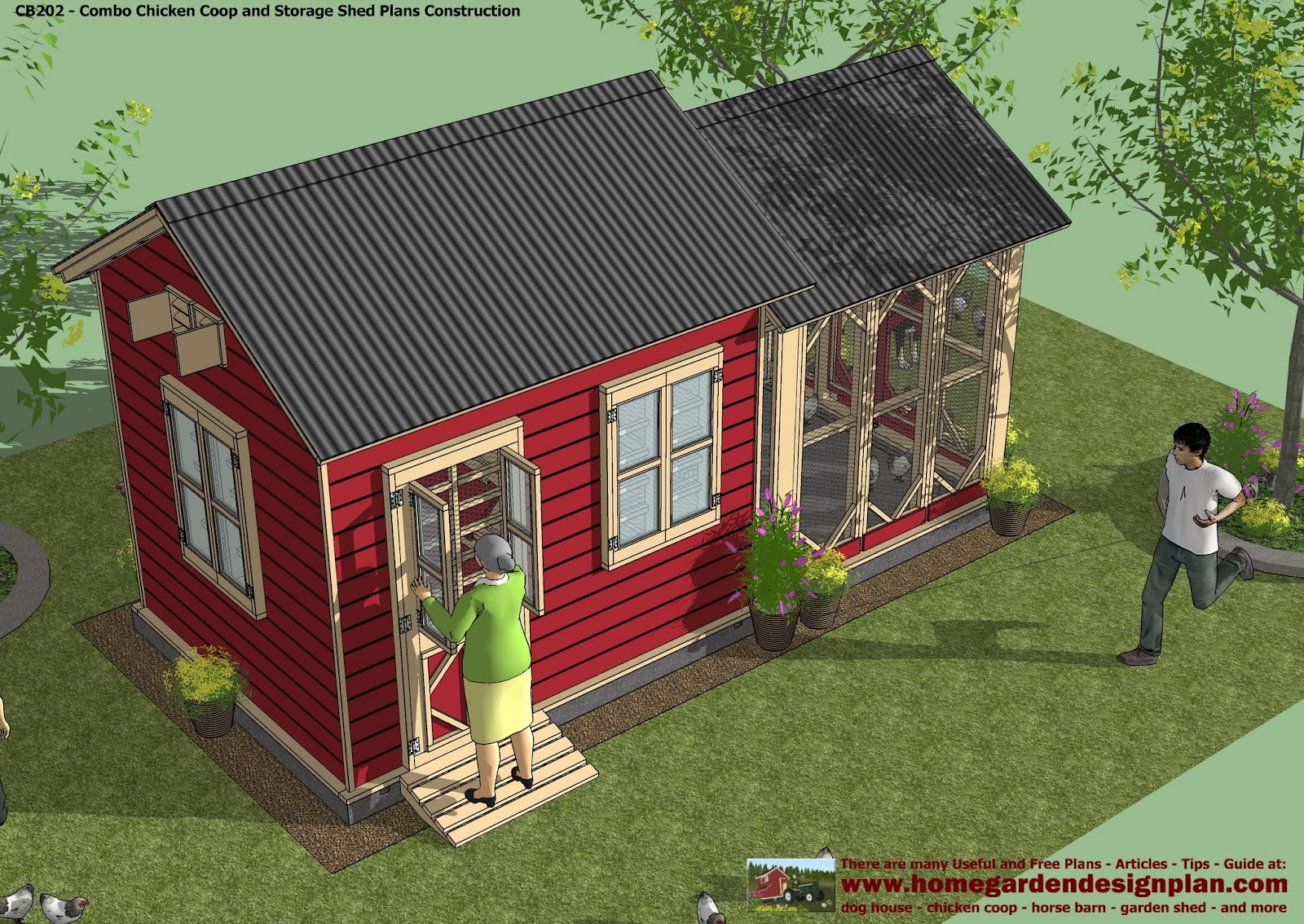 Home garden plans free plans for Chicken coop size for 6 chickens