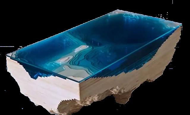 meja lucu konsep lautan