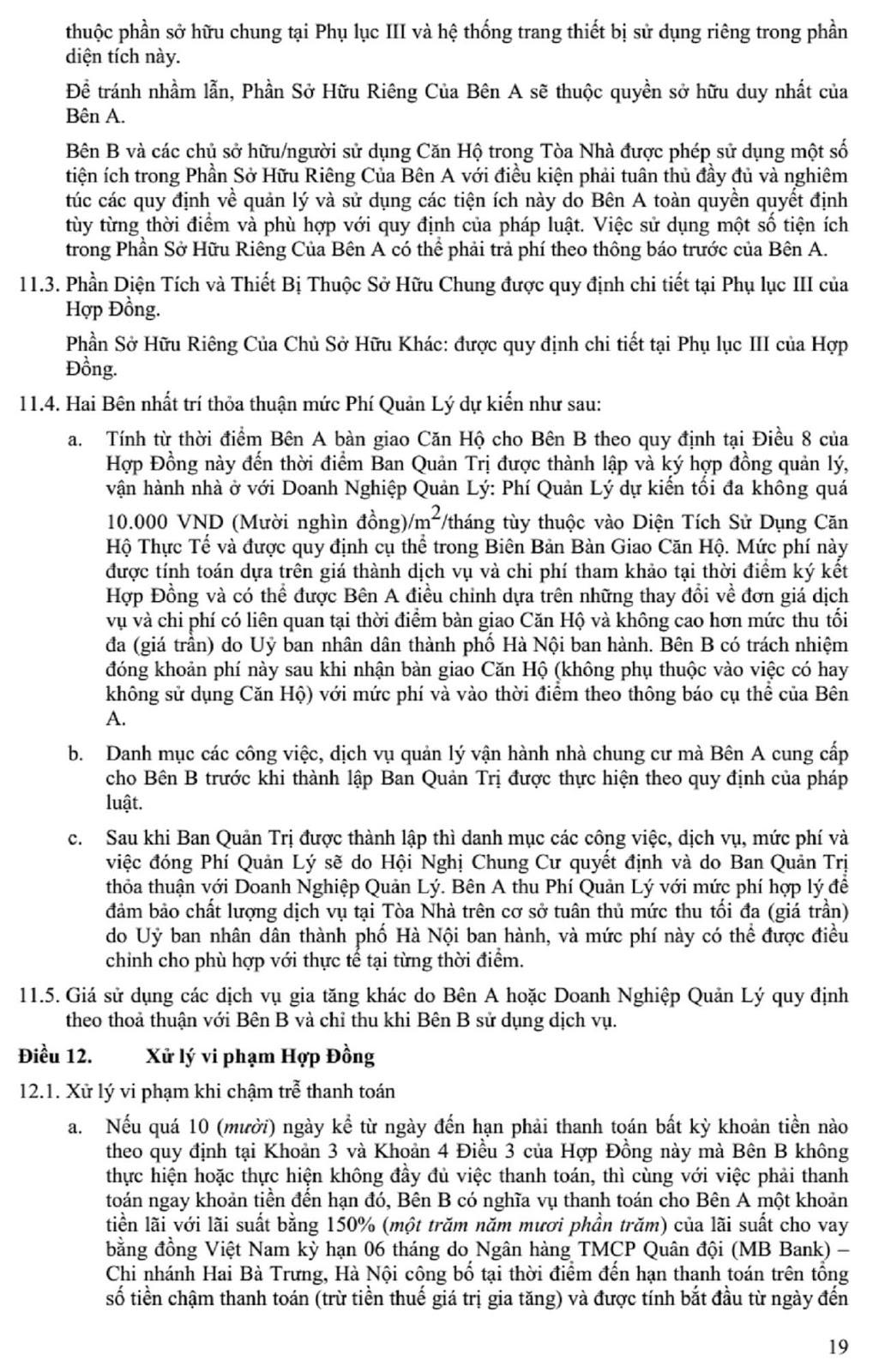 Hợp Đồng Mua Bán Chung Cư The Golden Palm
