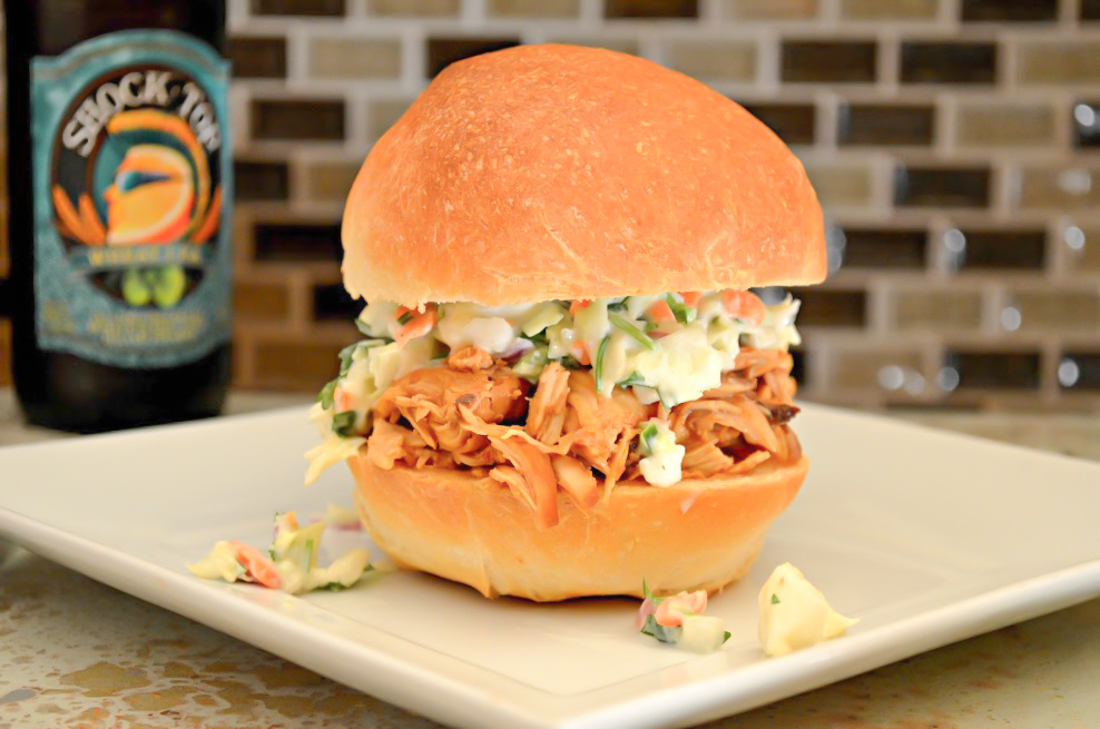 Easy Crock Pot Pulled Chicken With Homemade BBQ Sauce